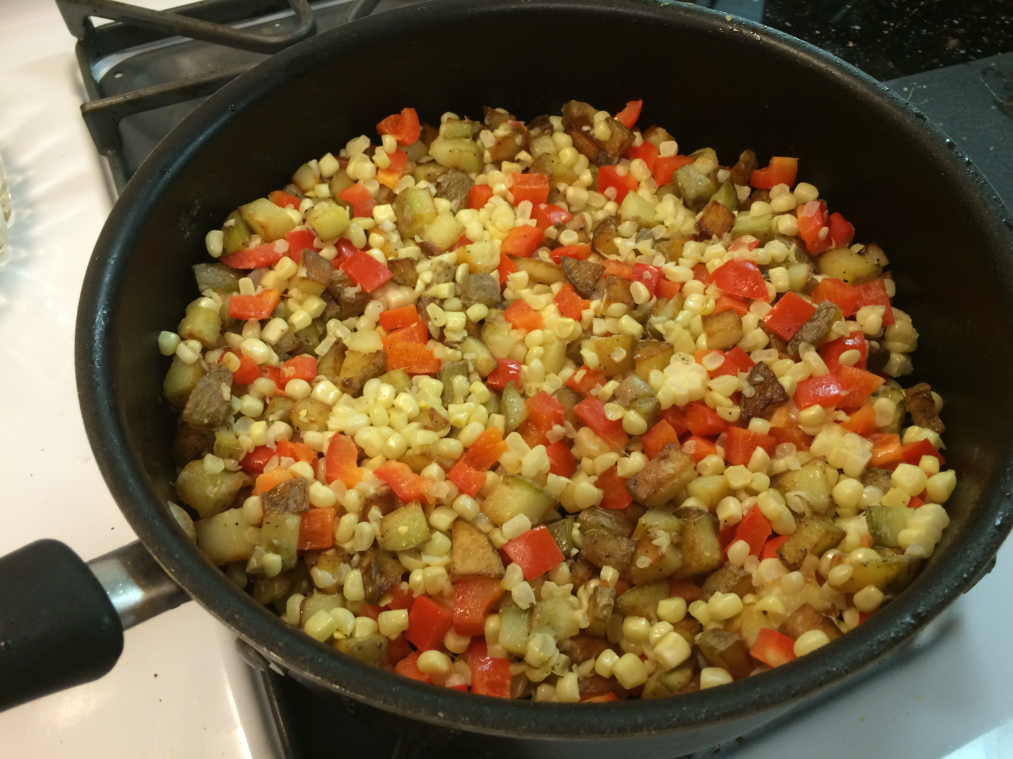 Bacon and Corn Hash | The Weekday Gourmet